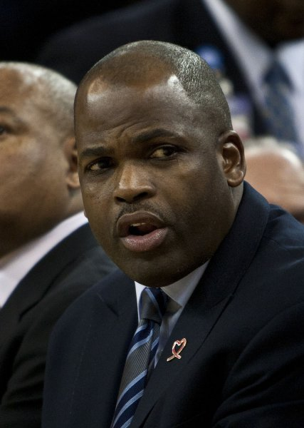 Nate McMillan, then head coach of the Portland Trail Blazers, at Oracle Arena in Oakland, Calif., Jan. 25, 2012. The Warriors announced March 15, 2012, McMillan has been fired. UPI/Terry Schmitt