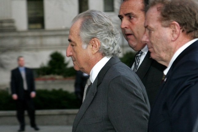 Bernard Madoff was sentenced to 150 years in federal prison in 2009 for one of the largest financial frauds in U.S. history. Daniel Bonventre, his former director of operations, received a 10-year sentence Monday. (UPI Photo/Monika Graff)