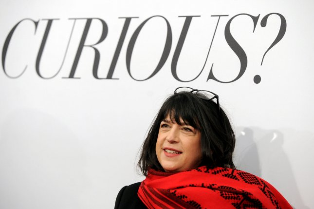 E.L. James arrives on the red carpet at the 'Fifty Shades Of Grey' New York Fan First screening at Ziegfeld Theatre in New York City on February 6, 2015. Photo by Dennis Van Tine/UPI