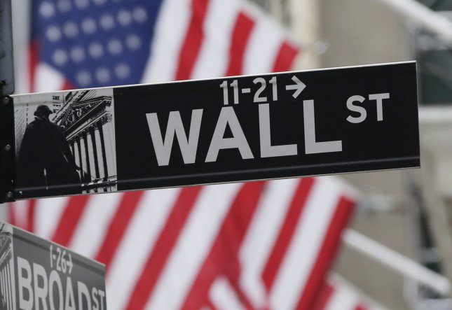 The Dow Jones industrial Average fell 508 points Monday as the market reacted to a potential increase in interest rates. Photo by John Angelillo/UPI
