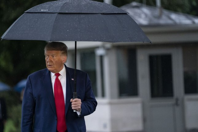 Environmental rule changes under the administration of President Donald Trump, shown speaking at the White House Thursday, could result in 1.8 gigatons of greenhouse gasses into the atmosphere by 2035, anew report released Thursday said. Photo by Alex Edelman/UPI