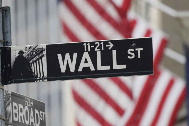 The Dow Jones Industrial Average gained 286 points Wednesday as markets continued to bounce back from losses to start the week. Photo by John Angelillo/UPI
