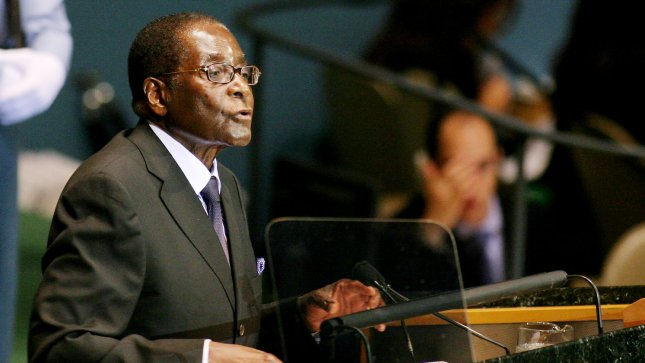 President of Zimbabwe Robert Mugabe addresses the 64th General Assembly at the United Nations on September 25, 2009 in New York City. UPI /Monika Graff