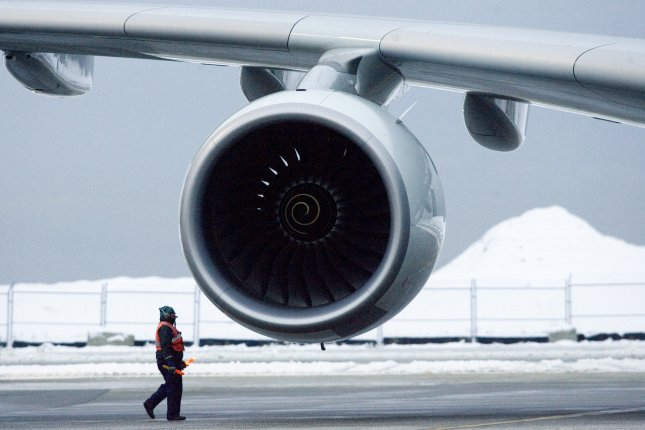 Rolls-Royce has announced the elimination of senior management positions as part of its restructuring. Pictured, a 555-seat Airbus A380, powered by four Rolls Royce Trent 900 engines, at YVR, Vancouver International Airport in Vancouver, British Columbia. File photo by Heinz Ruckemann/UPI