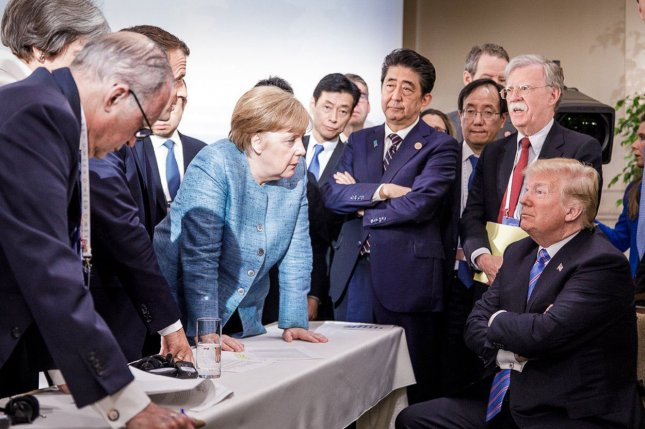 Photo shared by Angela Merkel hints at tension at G7