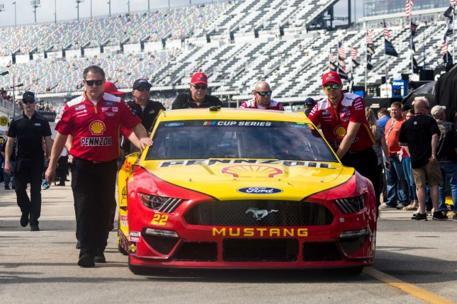 Joey Logano is the first driver with multiple Cup Series victories this season after winning Sunday in Phoenix. File Photo by Edwin Locke/UPI