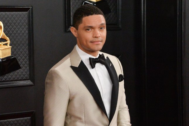 The Daily Show host Trevor Noah is nominated at the Webby Awards. File Photo by Jim Ruymen/UPI