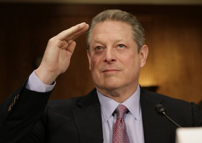Former U.S. Vice President Al Gore testifies before a Senate Foreign Relations Committee hearing on Addressing Global Climate Change: The Road to Copenhagen on Capitol Hill in Washington on January 28, 2009. UPI/Yuri Gripas