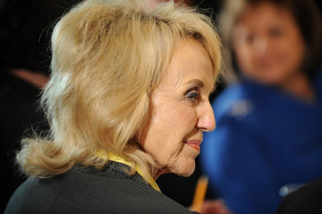 Arizona Governor Jan Brewer is shown during a meeting of the nation's governors in the State Dining Room of the White House last Monday. President Barack Obama urged the governors to invest more in education. UPI/Pat Benic