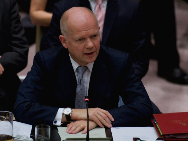 William Hague, foreign secretary of the United Kingdom. UPI/Monika Graff