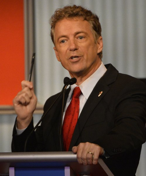 Sen. Rand Paul, R-Ky., at the fourth Republican debate at the Milwaukee Theater in Milwaukee, Wisconsin on November 10, 2015. Photo by Brian Kersey/UPI