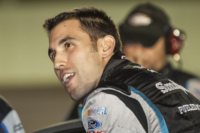 NASCAR driver Aric Almirola prepares for his qualifying run at the Homestead-Miami Speedway in Homestead, Florida. File photo by Joe Marino-Bill Cantrell/UPI