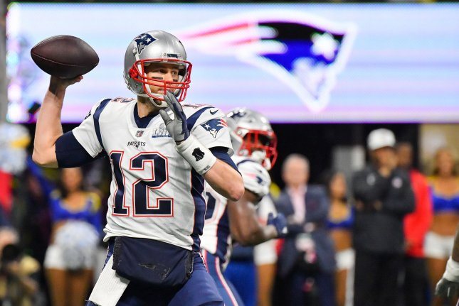New England Patriots quarterback Tom Brady, who is entering his 20th season in the NFL, turns 42 on Saturday. File Photo by Kevin Dietsch/UPI