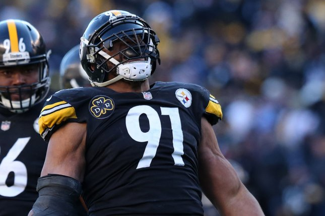 Pittsburgh Steelers defender Stephon Tuitt was on pace to set a new career-high in sacks this year before sustaining a season-ending injury in Week 6. File Photo by Aaron Josefczyk/UPI