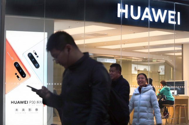 U.S. federal prosecutors on Thursday charged Chinese smartphone company Huawei with racketeering and conspiracy to steal trade secrets. File Photo by Stephen Shaver/UPI