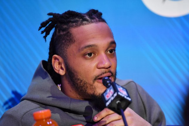 New England Patriots safety Patrick Chung is now under contract through 2023 after he agreed to a two-year extension Wednesday. File Photo by Kevin Dietsch/UPI