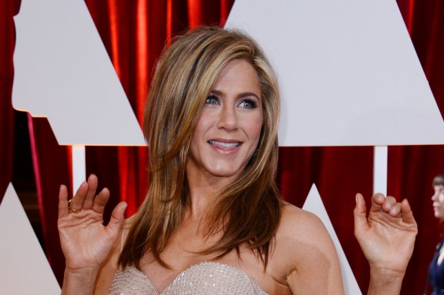Jennifer Aniston at the Academy Awards on February 22, 2015. The actress played Rachel Green on Friends. File Photo by Jim Ruymen/UPI
