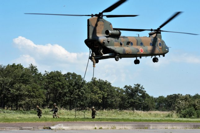 The U.S. State Department approved the potential sale of 10 CH-47F Chinook military cargo helicopters to the United Arab Emirates last week, a deal potentially worth $830.3 million. File Photo by Keizo Mori/UPI