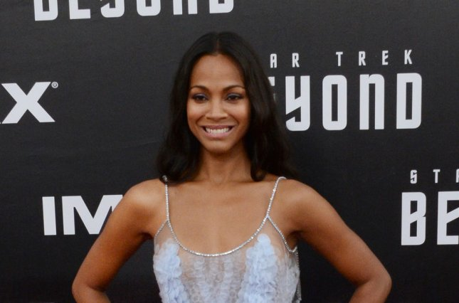 Zoe Saldana at the San Diego Comic-Con premiere of Star Trek Beyond on Wednesday. Photo by Jim Ruymen/UPI