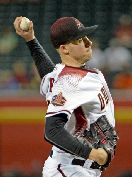 Patrick Corbin and the Arizona Diamondbacks take on the San Francisco Giants on Friday. Photo by Art Foxall/UPI