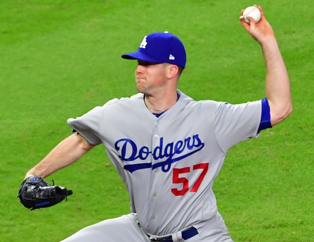 Alex Wood and the Los Angeles Dodgers face the San Francisco Giants on Tuesday. Photo by Kevin Dietsch/UPI