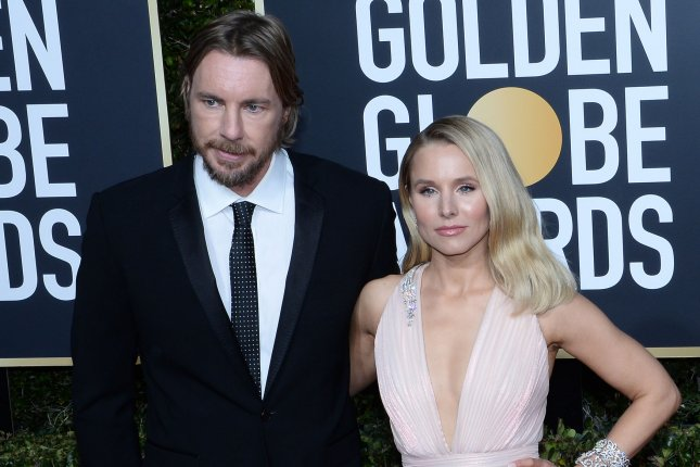 Dax Shepard (L), pictured with Kristen Bell, recalled his suspicious physiological response to relationship troubles in an interview with Dr. Phil. File Photo by Jim Ruymen/UPI