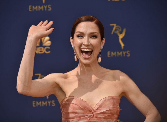 Actress Ellie Kemper is to guest judge America's Got Talent this summer. File Photo by Christine Chew/UPI