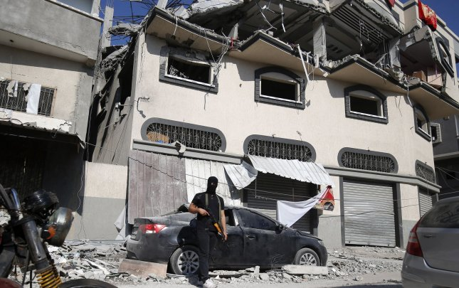 Wednesday's attack in Syria is the second predawn strike by the Israeli military in as many weeks. Last Tuesday, Israel killed Islamic Jihad field commander Baha Abu al-Ata and his wife in Gaza City, Palestine. Photo by Ismael Mohamad/UPI