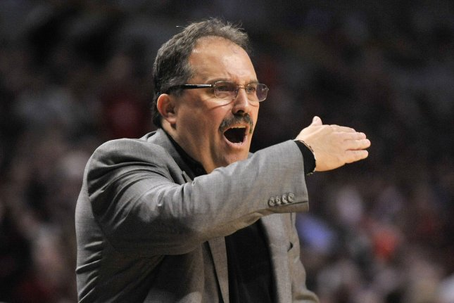 Former Orlando Magic head coach Stan Van Gundy has posted a 523-384 record in the regular season and a 48-43 mark in the postseason. File Photo by Brian Kersey/UPI