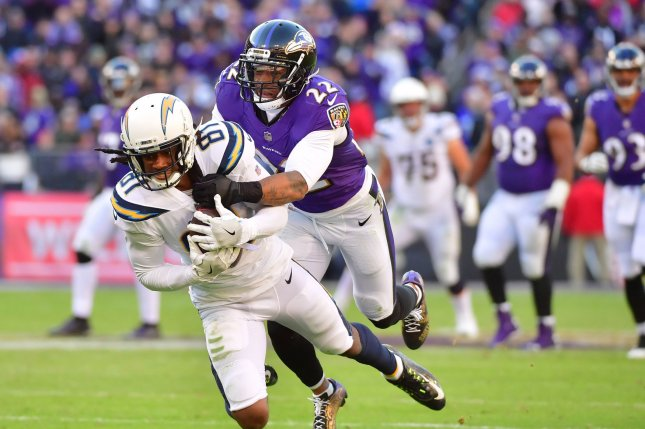 Baltimore Ravens cornerback Jimmy Smith (22) was scheduled to become a free agent at the end of the season. File Photo by Kevin Dietsch/UPI