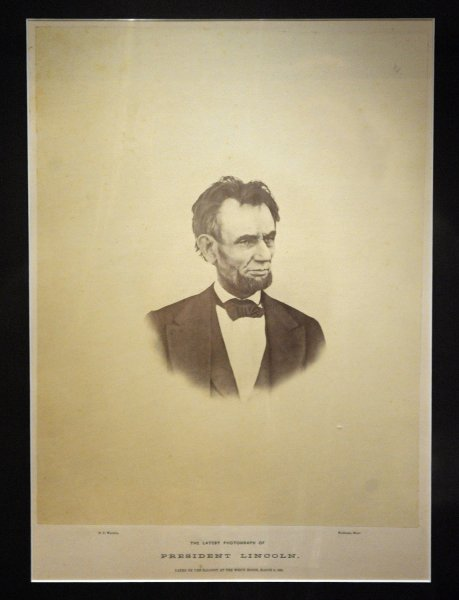 The last known photograph of Lincoln before his assassination, taken March 6, 1865. (UPI Photo/Roger L. Wollenberg)