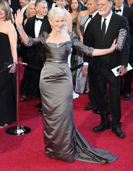 Helen Mirren arrives on the red carpet for the 83rd annual Academy Awards at the Kodak Theater in Hollywood on February 27, 2011. UPI/David Silpa