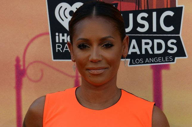 Mel B at the iHeartRadio Music Awards on May 1, 2014. File Photo by Jim Ruymen/UPI