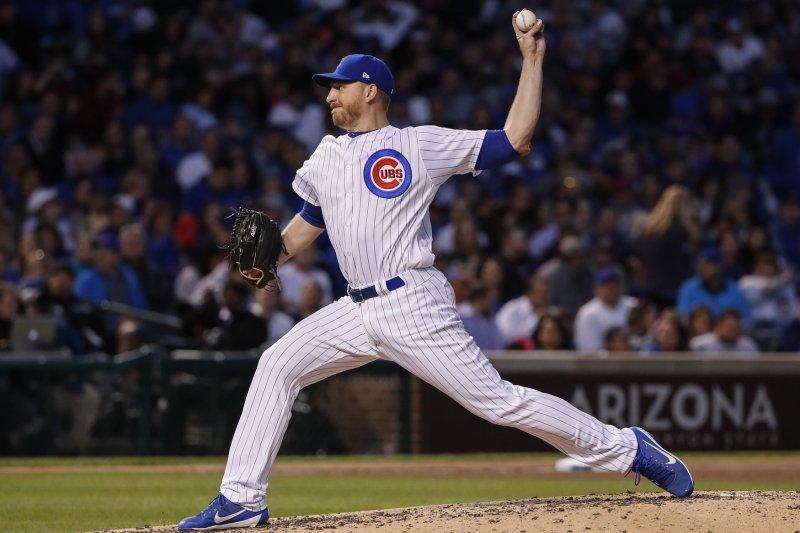 Chicago Cubs pitcher Mike Montgomery throws a pitch. File photo by Kamil Krzaczynski/UPI