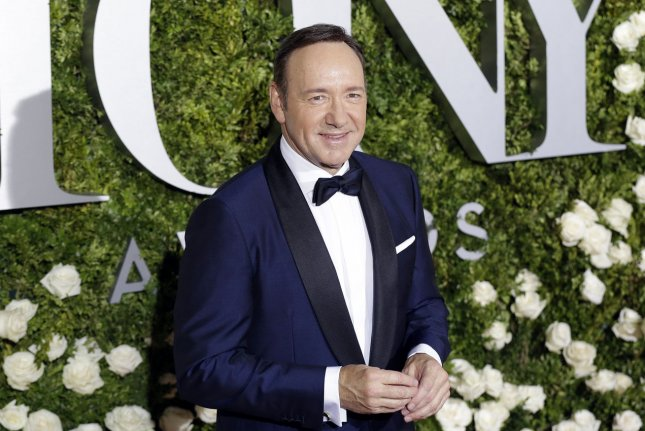 Kevin Spacey pictured here, will not be present when House of Cards resumes production in early 2018. File Photo by John Angelillo/UPI