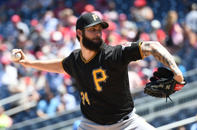 Trevor Williams and the Pittsburgh Pirates take on the San Diego Padres on Sunday. Photo by Pat Benic/UPI