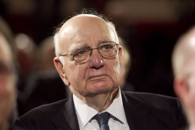 Paul Volcker, seen here in 2011, died Sunday at age 92. He is credited as one of the greatest shapers of U.S. postwar economic policy. UPI file photo by Andrew Harrer.