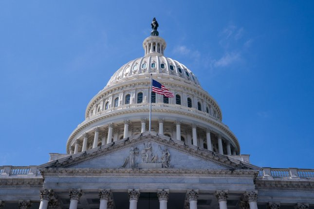 A group of 12 bipartisan senators introduced a stimulus bill totaling $908 billion that separates contentious provisions such as state and local funding and liability protections for employers from broader funding. File Photo by Kevin Dietsch/UPI