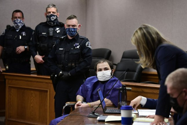 Prosecutors on Wednesday filed an additional 43 charges against Ahmad Al Aliwi Alissa, 21, in connection to a shooting at a Boulder grocery store last month that left 10 people dead. Pool photo by Helen H. Richardson/UPI