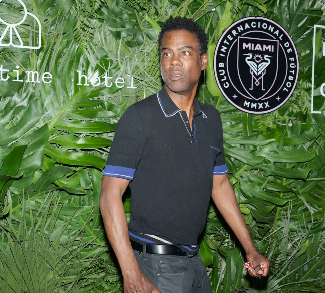 Chris Rock's Spiral is the No. 1 movie in North America. Photo by Gary I Rothstein/UPI
