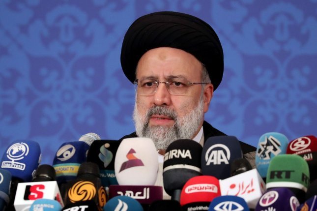 Iran's President-elect Ebrahim Raisi speaks during a press conference in Tehran on June 21. Photo by Maryam Rahmanian /UPI