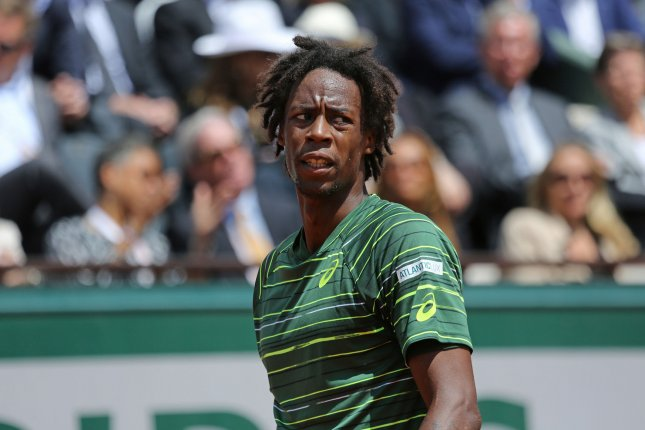 Gael Monfils of France. Photo by David Silpa/UPI