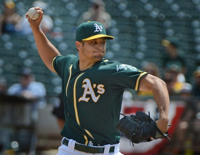 Sean Manaea: Completes season's first no-hitter