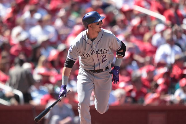 Former Colorado Rockies star Troy Tulowitzki was a five-time All-Star with the Rockies. File Photo by Bill Greenblatt/UPI