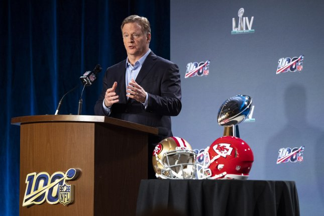 NFL commissioner Roger Goodell started considering the idea of an expanded playoff field almost 10 years ago. File Photo by Kevin Dietsch/UPI