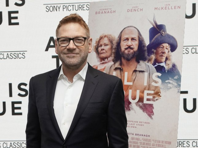 Kenneth Branagh is to play British Prime Minister Boris Johnson in a Sky TV limited series. File Photo by John Angelillo/UPI