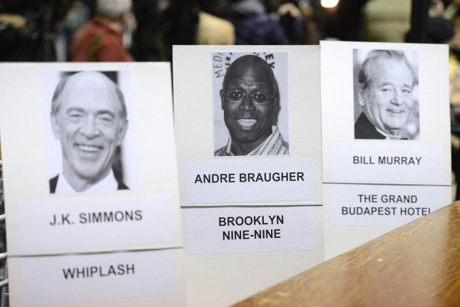 The theatre begins to take shape as preparations are underway for the 21st annual Screen Actors Guild Awards at the Shrine Auditorium in Los Angeles on January 22, 2015. The SAG Awards will be presented January 25. UPI/Phil McCarten