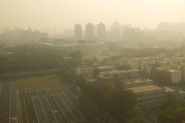 Haze hangs over the city of Beijing. File photo by UPI Photo/Stephen Shaver