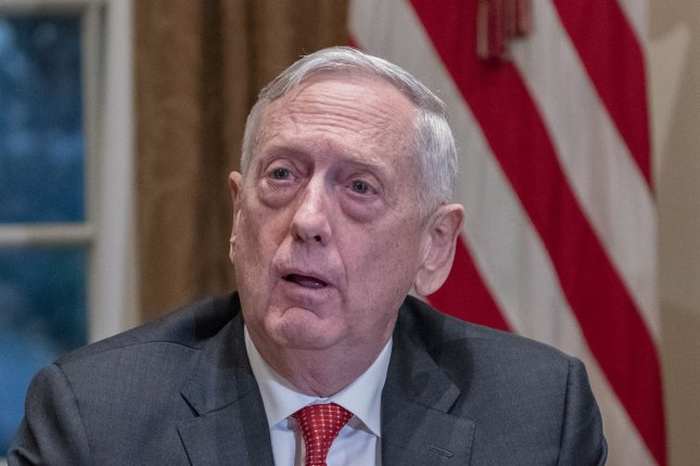 United States Secretary of Defense James Mattis answers a question after US President Donald J. Trump made a statement to the media as he prepares to receive a briefing from senior military leaders in the Cabinet Room of the White House in Washington, DC on Tuesday, October 23, 2018. The President took questions on the proposed space force, immigration, the caravan and Saudi actions in the killing of Jamal Khashoggi. Photo by Ron Sachs/UPI