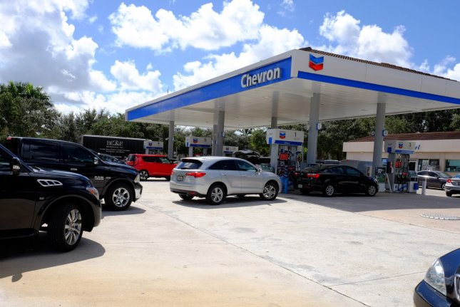 Gasoline prices rose in the United States for another week and some states are seeing averages above higher than this time last year. File Photo by Gary I Rothstein/UPI